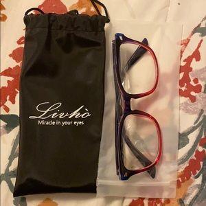 Pink/purple blue light glasses